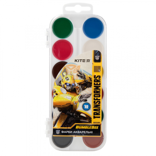 Фарби акварельні Kite Transformers BumbleBee Movie, 12 кольорів TF19-061