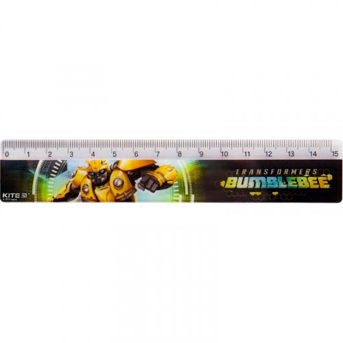 Лінійка пластикова Kite Transformers BumbleBee Movie TF19-090, 15 см