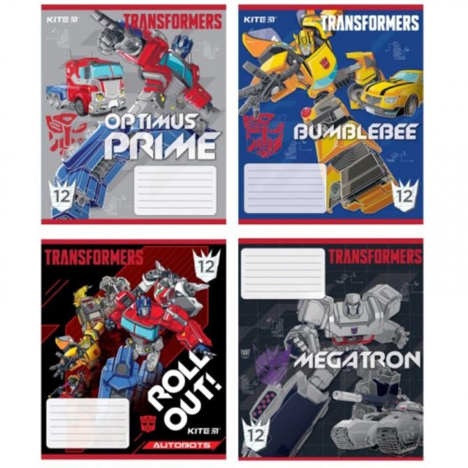 Зошит шкільний Kite Transformers TF20-235, 12 аркушів, коса лінія