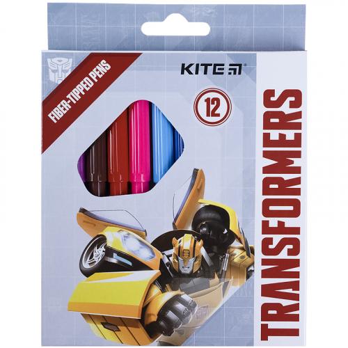 Фломастери Kite Transformers TF21-047, 12 кольорів