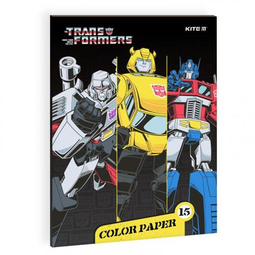Папір кольоровий двосторонній Kite Transformers BumbleBee Movie TF21-250