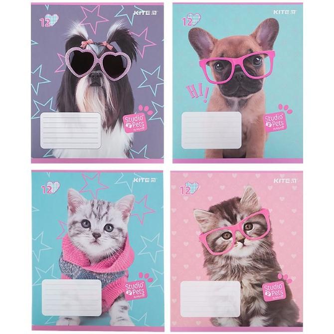 Зошит шкільний Kite Studio Pets SP21-232, 12 аркушів, клітинка