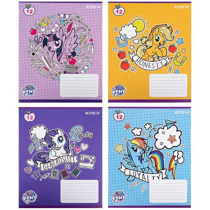Зошит шкільний Kite My Little Pony LP21-232, 12 аркушів, клітинка