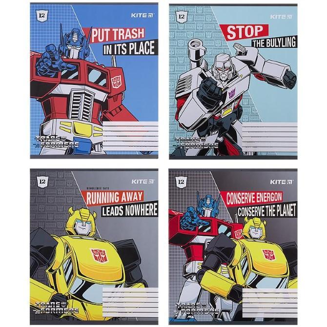 Зошит шкільний Kite Transformers TF21-232, 12 аркушів, клітинка